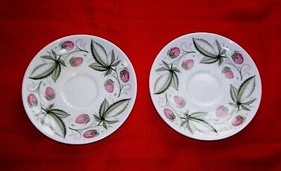 Susie Cooper Wild Strawberry -  Two Saucers