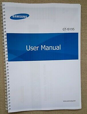 Printed Samsung Galaxy S4 Mini  Instruction Manual User Guide GT-I9195 COLOUR A5