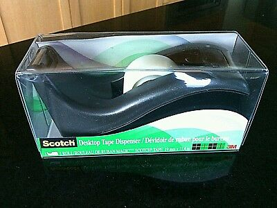 Scotch Tape Dispenser Desktop C 60 1'' Core Weighted Base Table Top Office Home