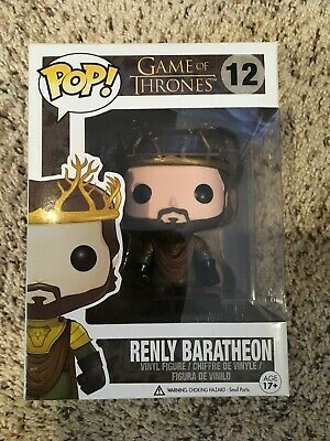 Funko Pop Game Of Thrones Renly Baratheon #12 Rare AUTHENIC Free Protector