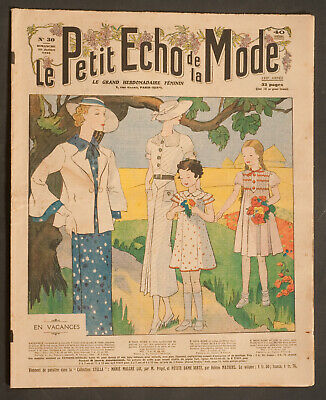 'echo De La Mode' French Vintage Newspaper Holiday Issue 28 July 1935