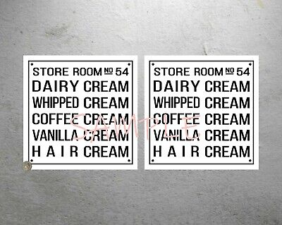 2 x Willy Wonka and the Chocolate replica factory hair cream signs | Charlie