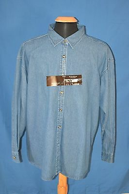 2db4fee58a9 NWT ULTRACLUB CYPRESS DENIM Big   Tall Mens Long Sleeve Shirt Sz 3XL