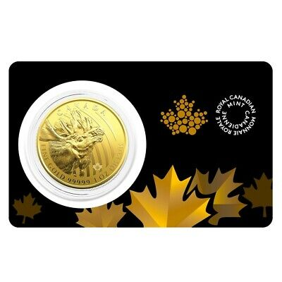 2019 1 oz Canadian Gold Moose - Call of the Wild $200 .99999 Fine Gold (In
