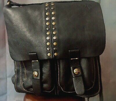 "PATRICIA NASH ""Armeno"" Large Crossbody Messenger - Black"
