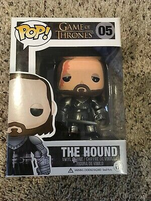 Funko Pop! Game of Thrones GOT The Hound #05 Vaulted AUTHENTIC Free PP