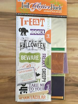 We R Memory Keepers Foil, Gltter & Flock Adhesive Rub On Kit 60741-0 Halloween