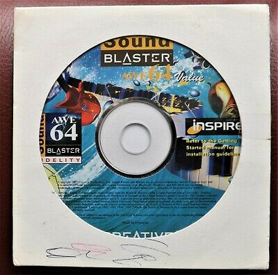 Sound Blaster Awe 64 Soundcard  Original Cd Rom Setup Disc &  Software