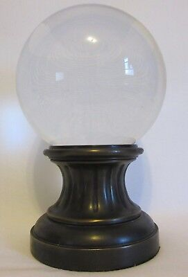 Large Clear Glass Orb Decorative Stand Extremely Heavy $134 Home Office Decor