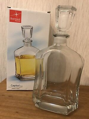 BORMIOLI ROCCO  CAPITOL Whiskey Brandy Glass Decanter Bottle NEW