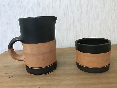 Rustic Look Milk Jug & Sugar Bowl by George Dear Pottery in Wales VGC
