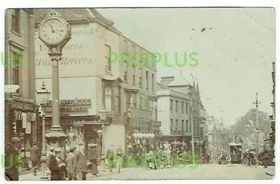 Old Street Scene Postcard Stourbridge Worcs Real Photo Vintage 1905-10