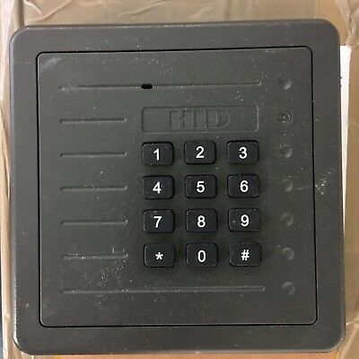 HID 5355AGK00 ProxPro Proximity Card Reader Keypad  spares or repairs .