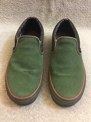 20a8ff6b6f9166 MARC JACOBS x VANS Rare Green Corduroy Vault Syndicate Slip On Sz Men 8  Wms9.