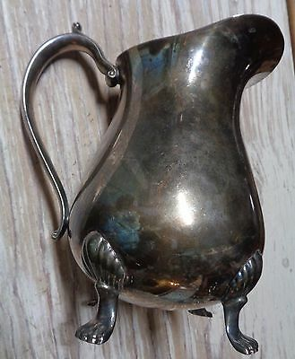 Water Pitcher Leonard Silverplated Footed With Ice Lip 9""