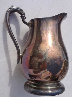 Water Pitcher Towle  Ice Lip Pedestalled Silver Plate Vintage