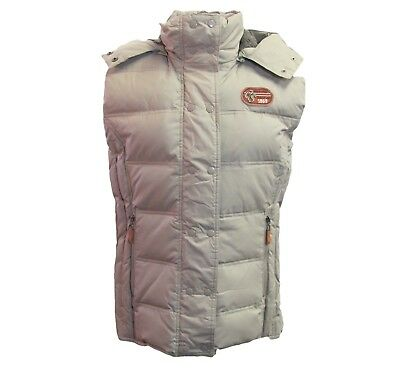 Womens TAN XL Euro-Star Winter Riding Down Filled Vest w/detachable Hood, NEW!