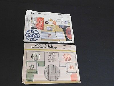Vintage 1934 and 1955 McCall Transfer Patterns  Good Vintage Condition