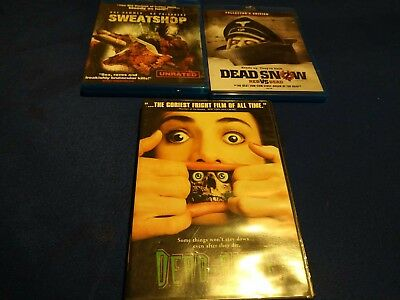 Dead Alive (DVD, 1998, Unrated Version) OOP DVD RARE + HORROR LOT ZOMBIE GORE