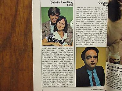 1973 FALL PREVIEW TV Guide(SALLY FIELD/THE SIX MILLION  DOLLAR MAN/THE  MAGICIAN