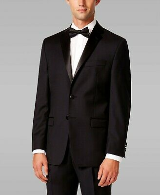 NWT RALPH LAUREN Mens Black Wool Regular Tuxedo Wedding Jacket Suit Blazer $375