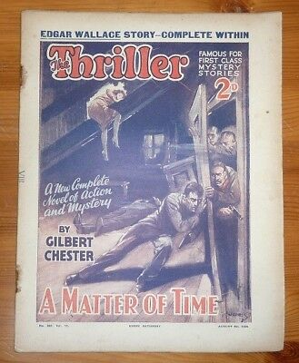 THE THRILLER No 287 Vol 11 4TH AUG 1934 THE TREASURE HUNT BY EDGAR WALLACE