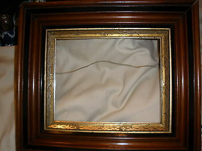 Super 19th century Deep Dish walnut Frame w-black trim& gilding innerframe#2 wow
