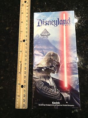 Disneyland Star Tours Darth Vader January 2012 Park Map and Guide