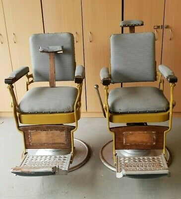2 VINTAGE BARBERS CHAIRS- RAYNOR AND ZEPHYR- pick up 3939