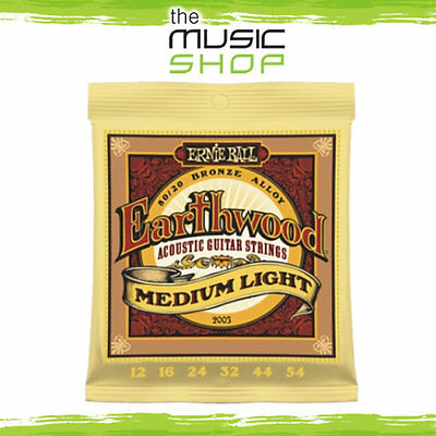 5 x Ernie Ball 2003 Earthwood 80-20 Bronze Acoustic Guitar Strings 12-54 Bulk