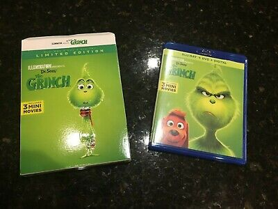 The Grinch 2018 Bluray Disc ONLY + case Never Watched Illumination Dr Seuss