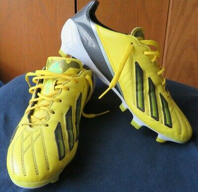 3ea37a4e51f ADIDAS ADIZERO F50 TRX FG Leather Men s 7.5 US G65302 Yellow USED ...