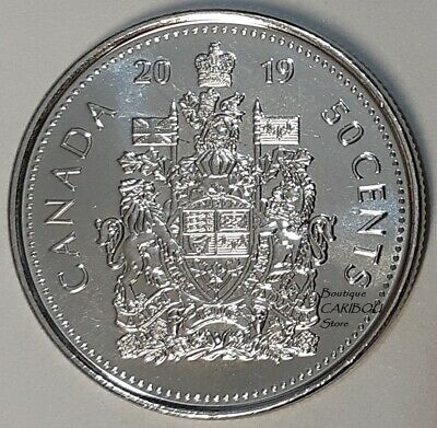 2019 Canada 50 Cents Coat of Arms BU