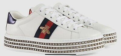 7c12f980a GUCCI ACE SNEAKERS WITH CRYSTALS RETAIL $1300 WOMENS Size 7.5US ...