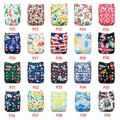 Reusable Washable Baby Cloth Nappies One Size Pocket Nappies WITHOUT Inserts