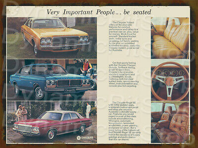 30x40cm Chrysler Charger VJ 1973 Rustic Tin Sign or Decal