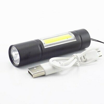 USB Camping Hiking LED Portable COB Lamp Q5 USB Flashlight flash torch battery
