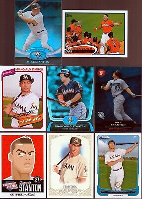 Huge 85 different GIANCARLO STANTON cards lot 2011 - 2019 Marlins Yankees