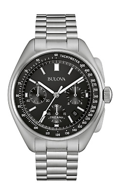 Bulova Lunar Pilot Chronograph Watch - Special Edition Stainless Steel Bracelet