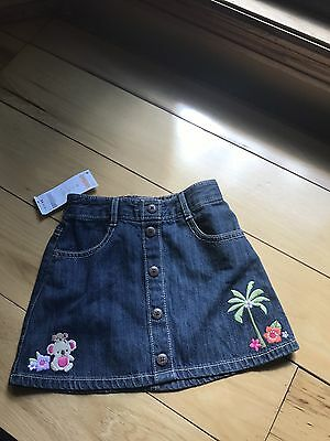 New Gymboree Girls White Cropped Pants Foral Hem 5t Nwt Surf Adventure Jeans Bottoms Baby & Toddler Clothing