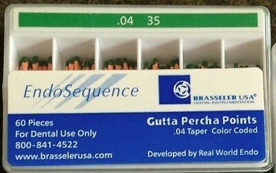1 new pack of Brasseler Endosequence gutta percha points. Size 35 taper .04.