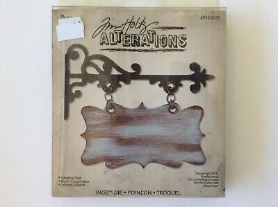 Sizzix Tim Holtz Alterations Hanging Sign Die 656631