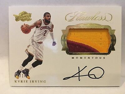 6309add133d3 Kyrie Irving 2016-17 Flawless Momentous 2 Color Game Worn Patch Auto 3 10