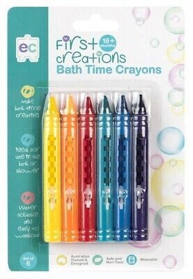 First Creation Bath Time Crayons 6p Kids Art Craft Fun Creative Play Learning