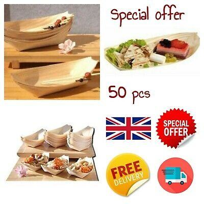 Bamboo Wood Cones MIDI x100 for party foods snacks nibbles MIDI canap/Ã/© 180X75mm