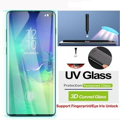 Samsung Galaxy S10 5G S9 S8 Plus Note 9 8Full UV Tempered Glass Screen Protector