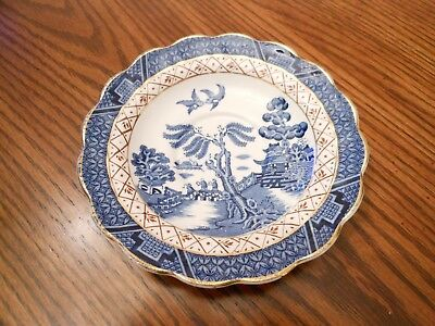"""Vintage BOOTHS England REAL OLD WILLOW A8025 Saucer(s) for Tea/Coffee Cup 5 7/8"""""""