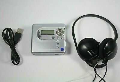 MD Walkman MZ-NH600D with Sony MDR-G45 Headphones