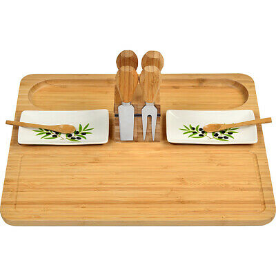 Picnic at Ascot Sherborne Bamboo Cheese Board Set with Outdoor Accessorie NEW