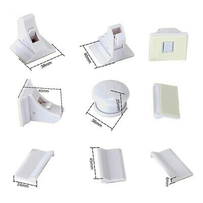 10Pc Magnetic No Drilling Cabinet Drawer Cupboard Locks Baby Kids Safety Lock --